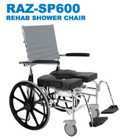 RAZ-SP600 Rehab Shower Commode Chair
